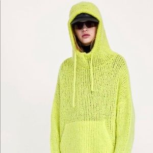 Zara Knit Pullover Sweater Hoodie